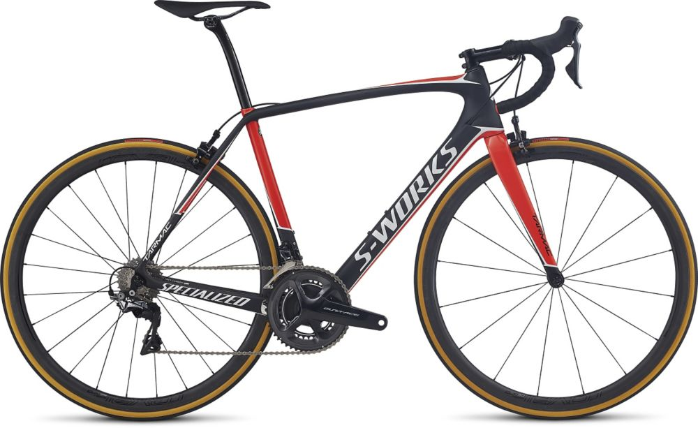 Specialized S-works Tarmac Dura-ace, Satin Carbon/rocket red/metallic white