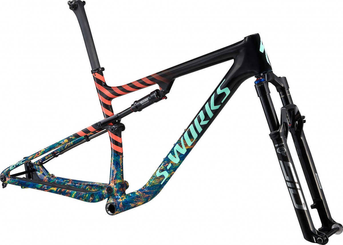 Specialized Epic S-Works Carbon Frame, Carbon/cobalt/brassy Yellow